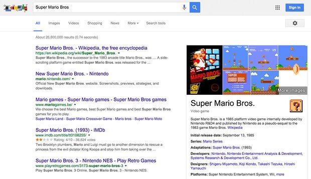 """Google """"super mario bros"""" - Promos Web 22"""